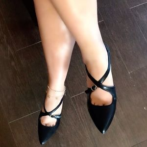 Shoes - New Criss Cross Buckle Heels